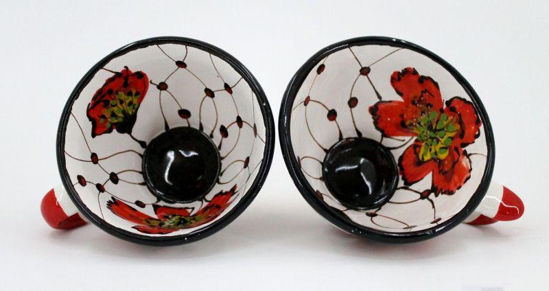 Extravagante Tasse aus Keramik von Hand bemalt