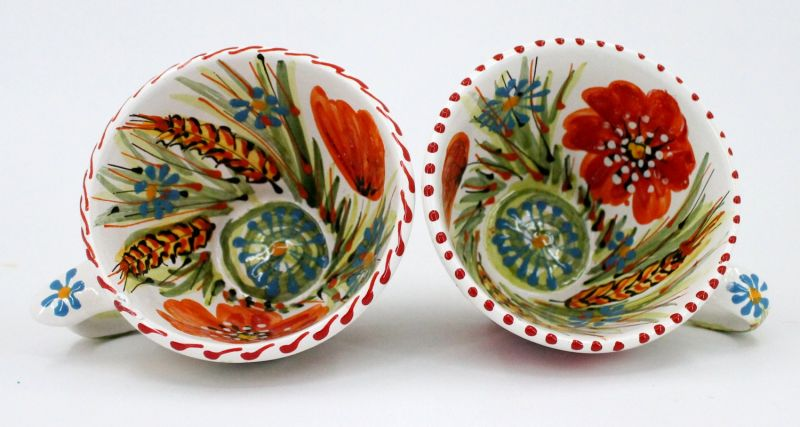 Hand-painted unique clay cup (29)