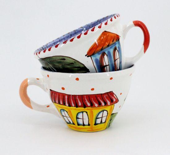 """Schöne Tasse aus Keramik """"Winterstadt"""""""