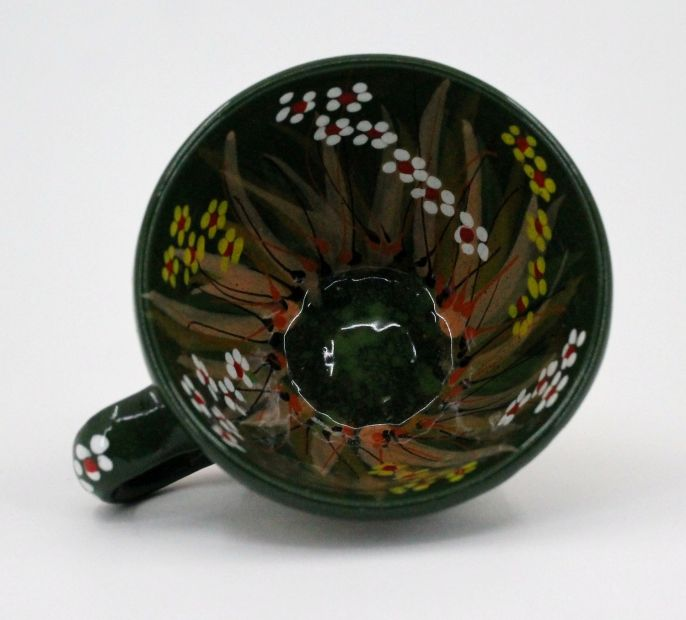 Hand-painted unique clay cup (12)