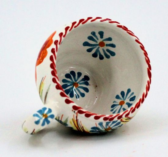 Hand-painted unique clay cup (74)
