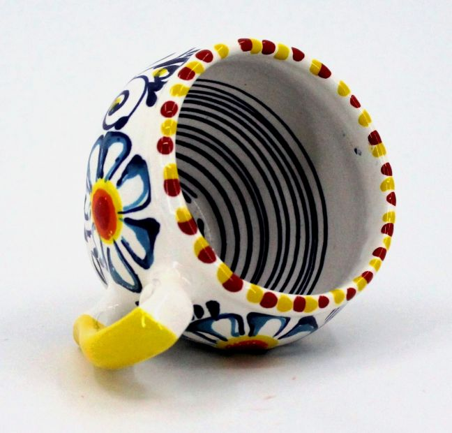 Handmade and hand painted ceramic cup (78)