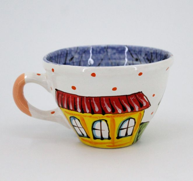 Handmade and hand painted ceramic cup (02)