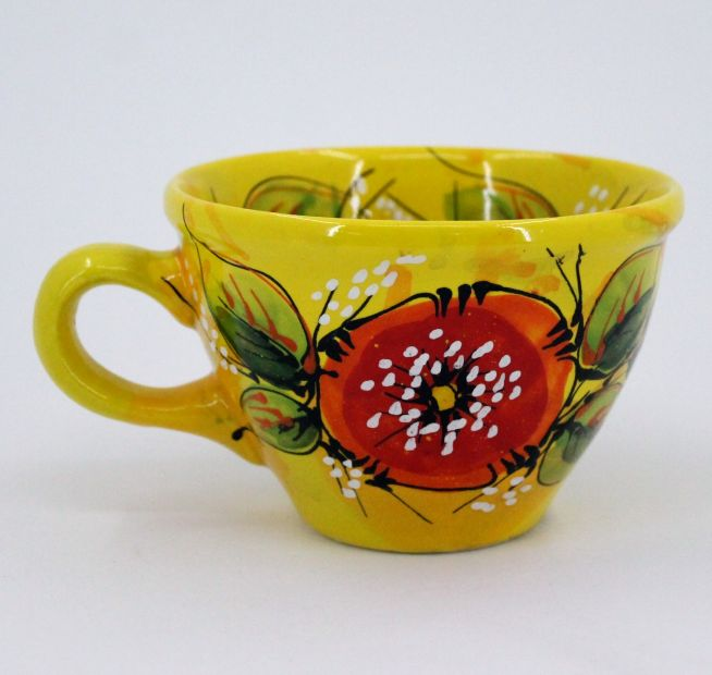 Hand-painted unique clay cup (44)