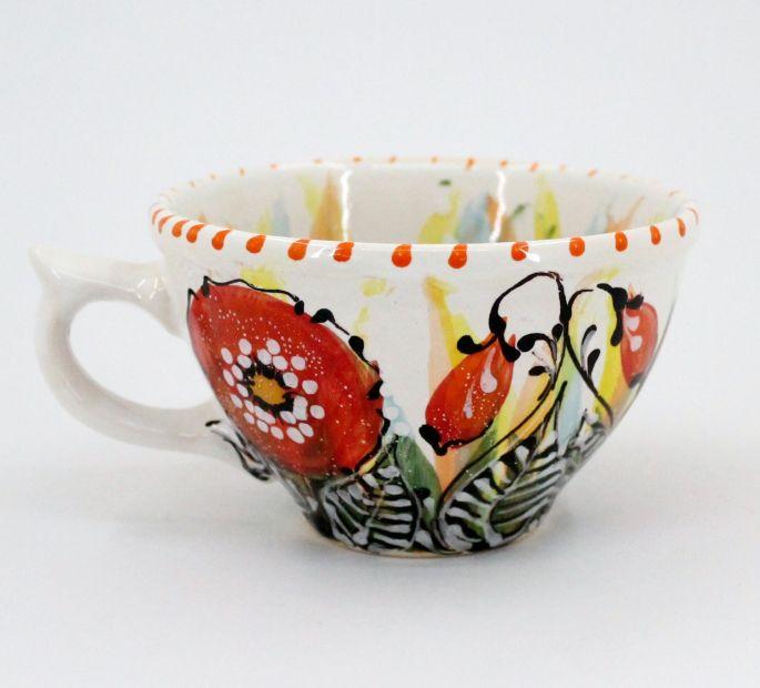 Handcrafted pottery mug (48)