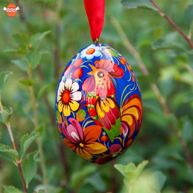 Wooden Easter egg  pysanka  (01)