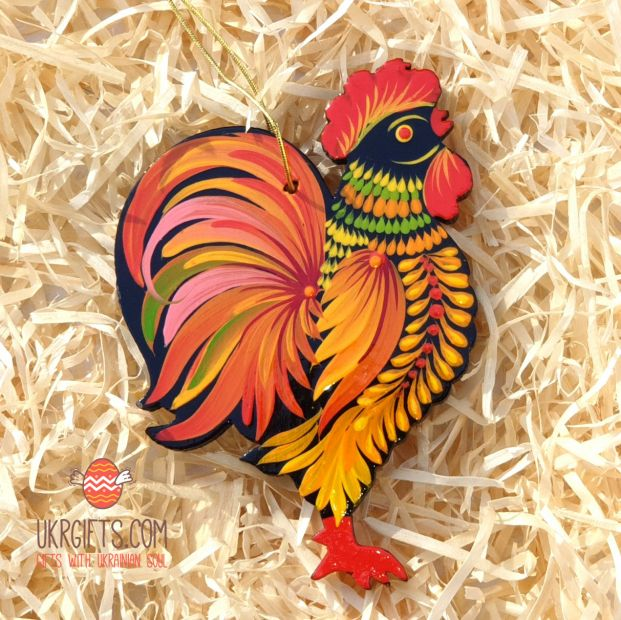 Handpainted rooster ornament