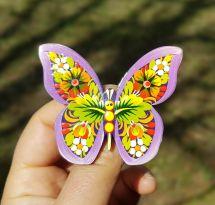 Pin- Schmetterling aus Holz fein-bemalt