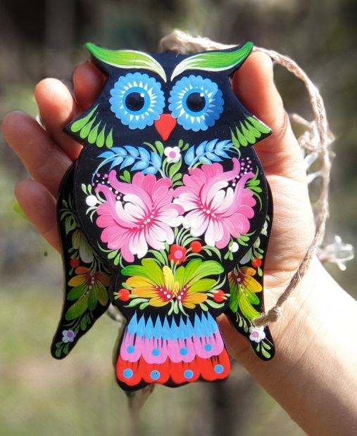 Owl wooden toy, that moves, walldecoration for children room, handmade