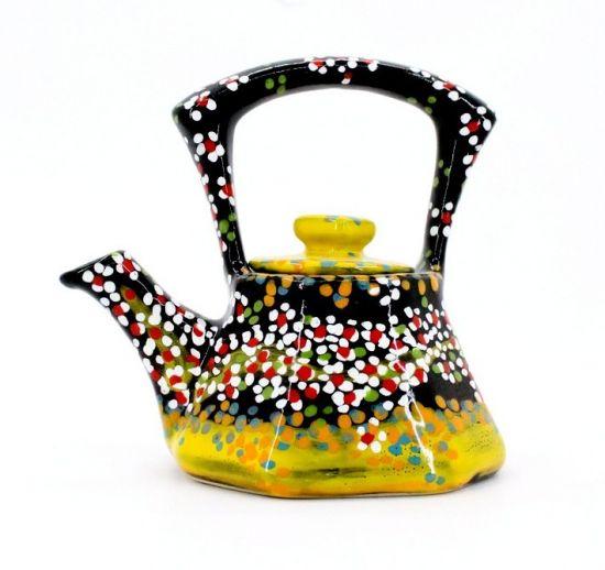 Originelle Teekanne aus Keramik  handbemalt