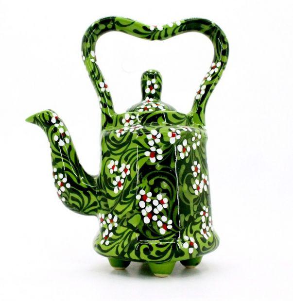 Floral painted teapot, original shape