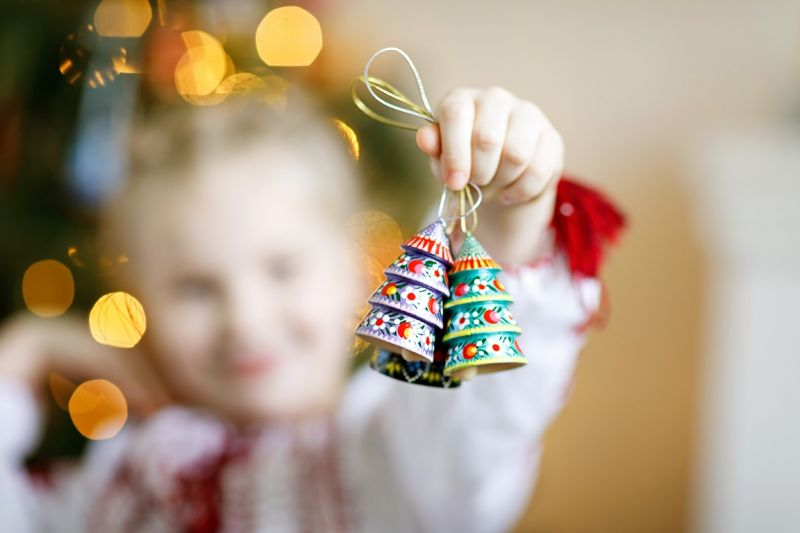 Original christmas bell in the shape of tree