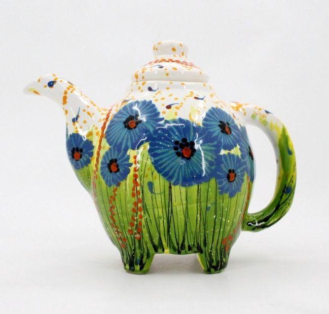 Керамический чайник с росписью (34)