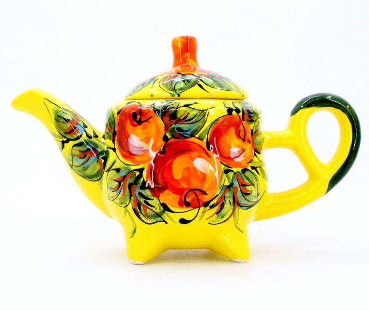 Керамический чайник-заварник ручной работы (35)