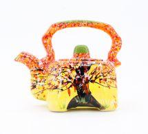 Originelle Teekanne aus Keramik mit Herbstmotiven
