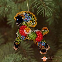 Traditional ukrainian painted Christmas ornaments Horse