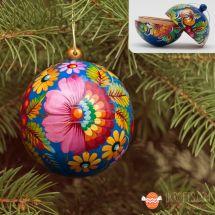 Handbemalte Christbaumkugel 7 cm zum aufmachen