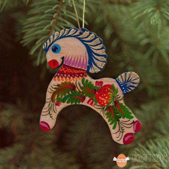 Animal wooden Christmas decorations Horse