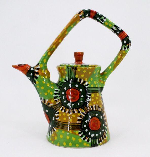 Керамический чайник с росписью (92)