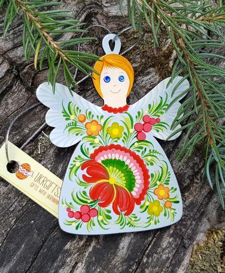 Lächelnder Engel-Anhänger als Weihnachts-, Fensterschmuck