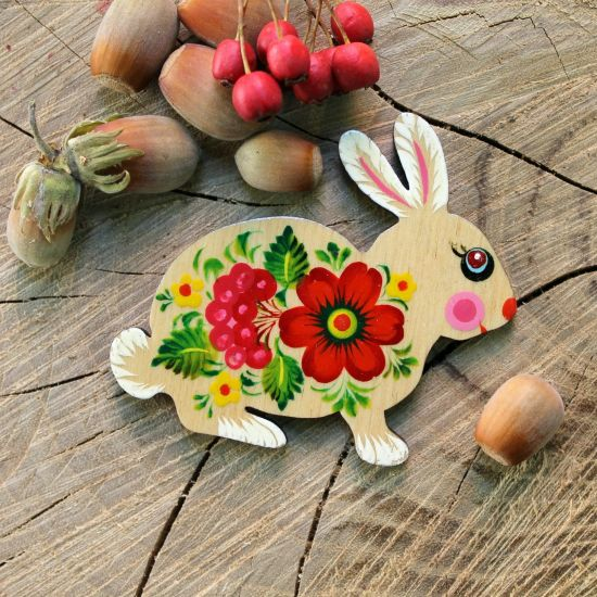 Rabbit shaped magnet small easter gift