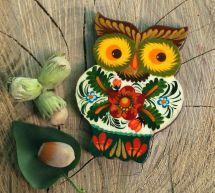Owl fridge magnet, small gift for Owl lovers, handmade