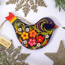 Beautiful Christmas ornaments Bird hand painted