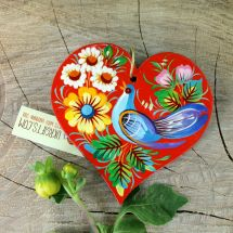 Original christmas decoration in the shape of heart