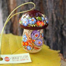 Mushroom Christmas ornament and small box for gifts, handmade