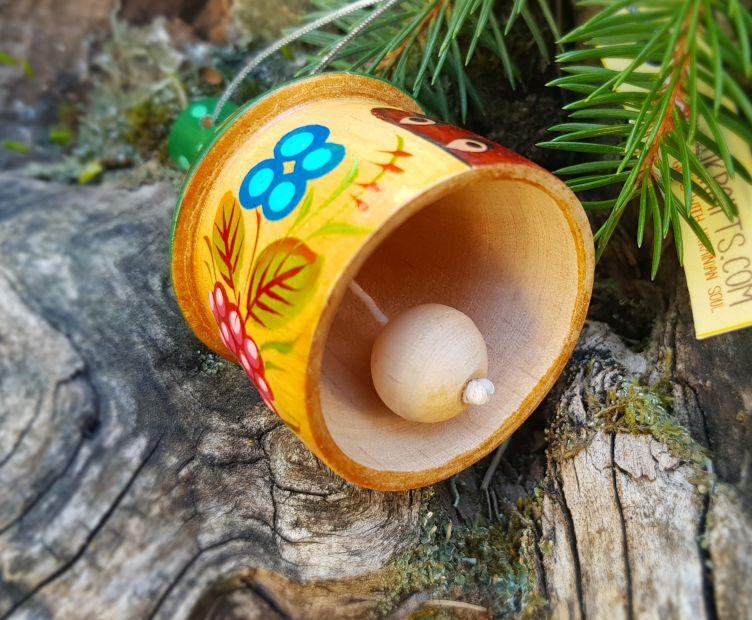 Buntes Glöckchen - Holzhäusschen, traditionell bemalt