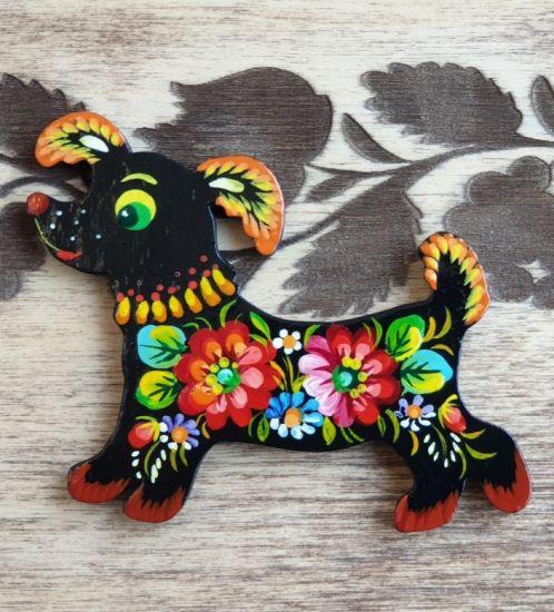 "Pretty kitchen decor fridge magnet and souvenir ""Dog"",  dog lovers gift"