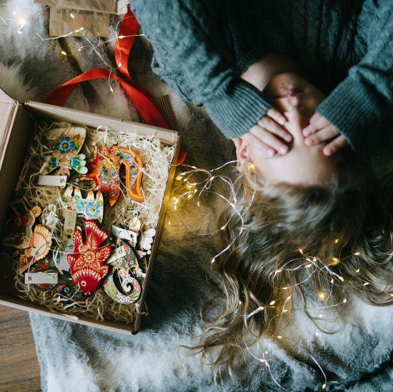 Surprise box - Christmas decoration set - 15 pieces