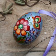 Original painted wooden Easter egg, Ukrainian Pysanky