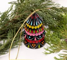 Colorful Christmas decor -bell tree shaped