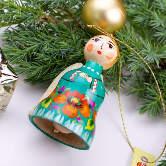 Weihnachtsengel und Glöckchen Weihnachtsdeko aus Holz