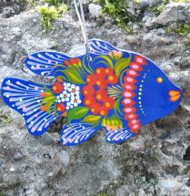 """Unique Christmas ornament """"Fish"""" or just fish home decor, wooden, handmade"""