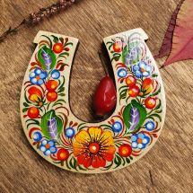 Lucky symbol horseshoe magnet, handmade in Ukraine