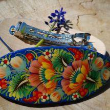 Origineller Haarschmuck aus Holz mit Blumenmuster - Haarspangen - Volkskunst