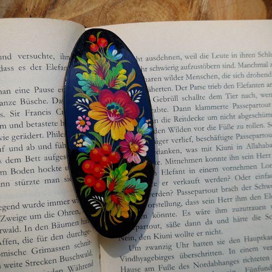 Hangemachte Haarspange aus Holz - origineller Haarschmuck- Ukrainische Volkskunst