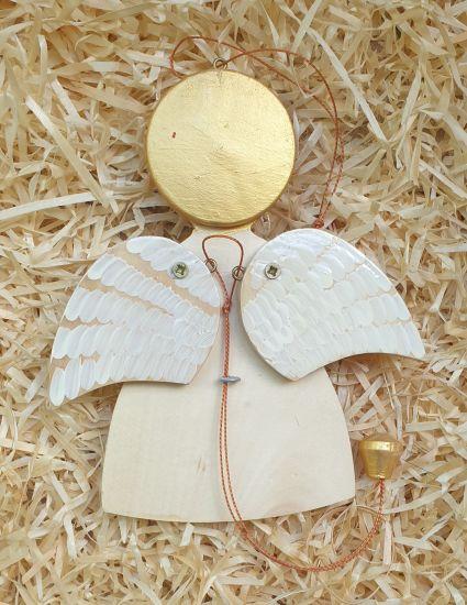 Hampelmann-Engel, bewegendes Spielzueg aus Holz