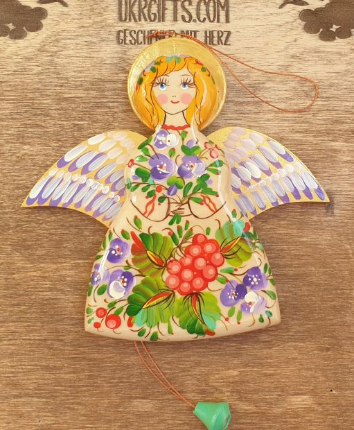 Angel shaped jumping jack toy, wall decoration for children room, handmade