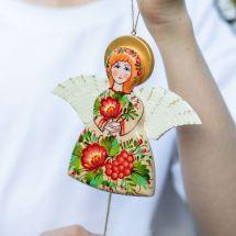 Hampelmann Engel aus Holz für Kinderzimmer