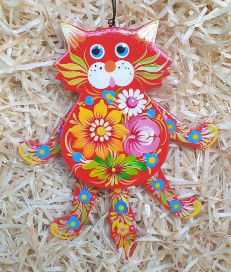 Hampelmann in Katzenform - Witzige  Wanddeko für Kinderzimmer