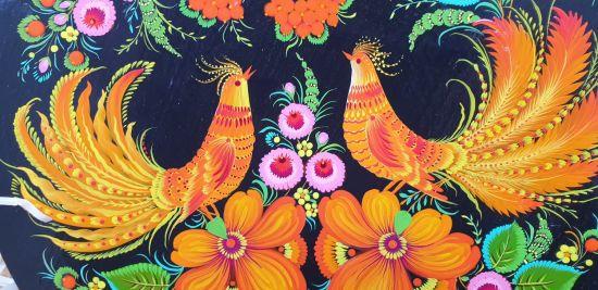 """Wandteller aus Holz """"Liebe"""", ukrainische kunstvolle Handarbeit"""