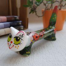 Original tomcat ceramic figures cat, long funny tomcat made of ceramic