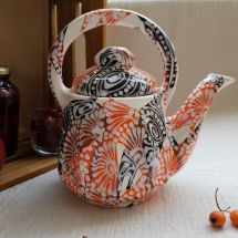 Design ceramic teapot abstract hand painted