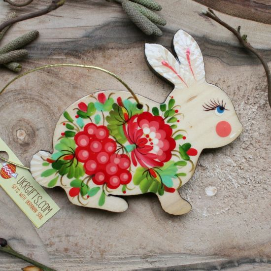 Easter bunny ornaments - painted decorations