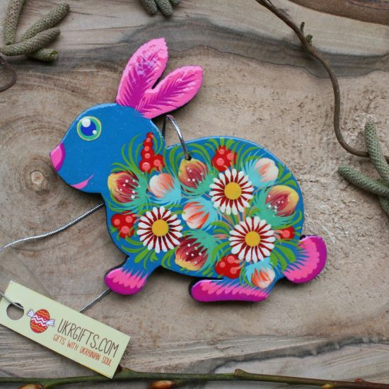 Funny Easter rabbit decoration - Easter tree ornaments