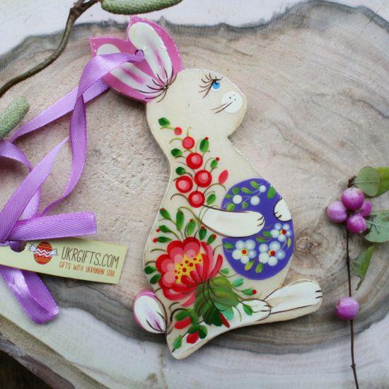 Osterhase Deko Anhänger aus Holz - Osterfiguren für den Osterstrauch