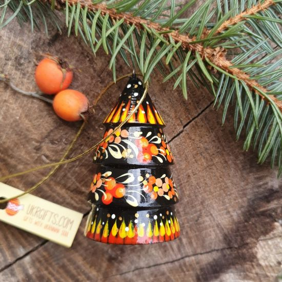 Wooden Christmas bell tree shaped